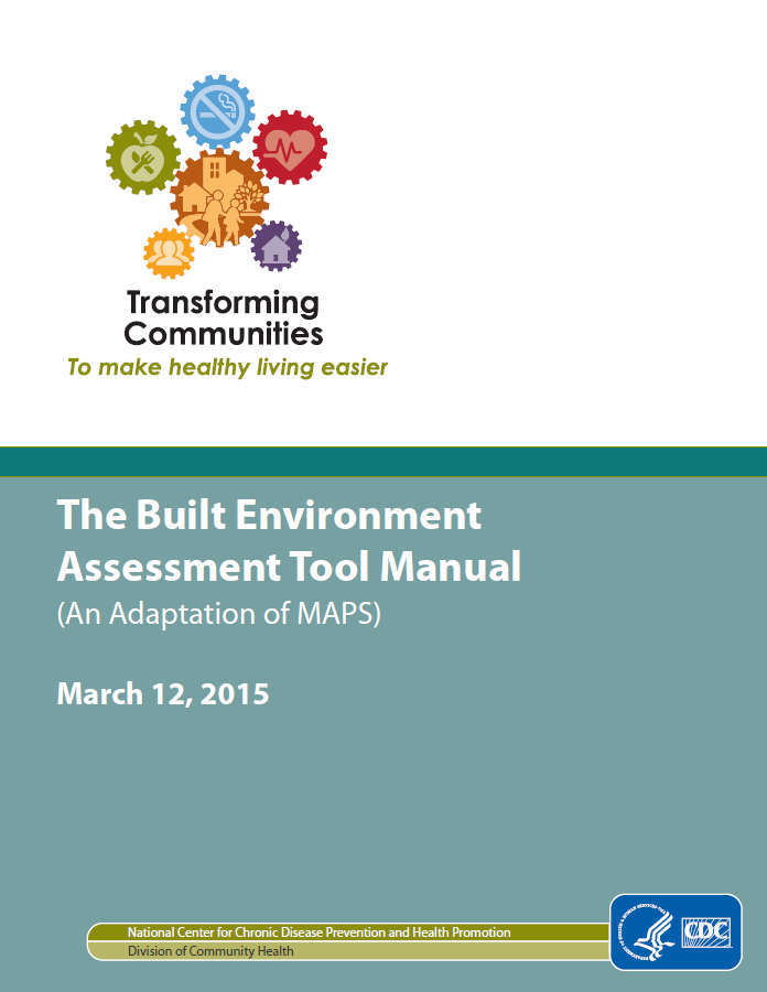 Cdc Releases New Package For Prevention >> Cdc Releases New Built Environment Assessment Tool Apa Colorado
